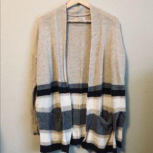 LOFT striped knit cardigan